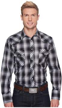 Roper 1205 Black and Charcoal Plaid Men's Clothing