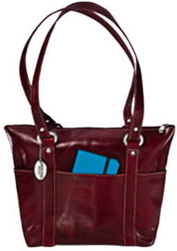 Women's David King Leather 3543 Florentine 6 Pocket Shopper