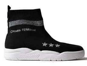 Chiara Ferragni Embroidered Sock Sneakers