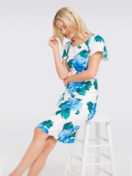 Draper James Collection Peony Floral Flutter Sleeve Dress