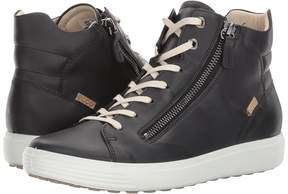 Ecco Soft 7 Zip High Top Women's Lace up casual Shoes