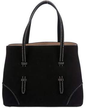 Alaia Small Studded Suede Tote
