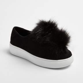 Stevies Girls' #FLUFFFY Pompom Sneakers