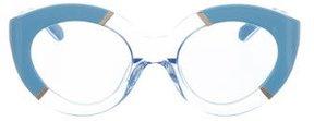 Karen Walker Poolside Flowerpatch Cat-Eye Sunglasses