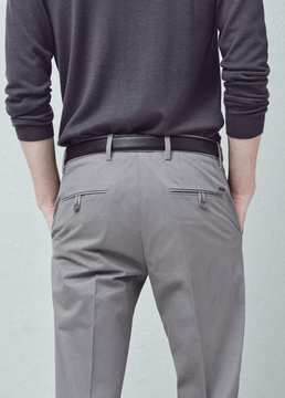 Mango Outlet Slim-fit cotton chinos
