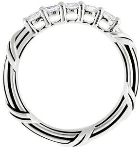 Peter Thomas Roth Signature Classic Silver 0.50 Ct. Tw. White Sapphire Ring