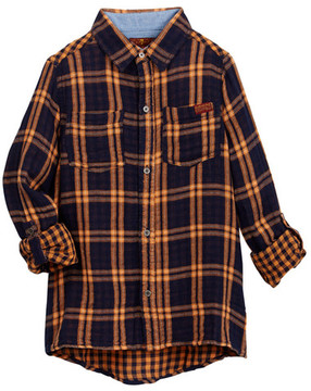 7 For All Mankind Long Sleeve Woven Shirt (Big Boys)