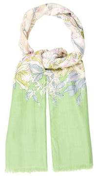 Loro Piana Cashmere Floral Print Scarf