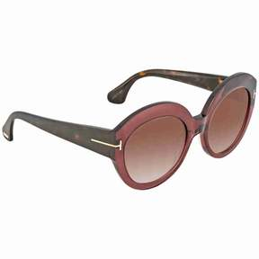 Tom Ford Rachel Brown Gradient Round Ladies Sunglasses FT0533 71F