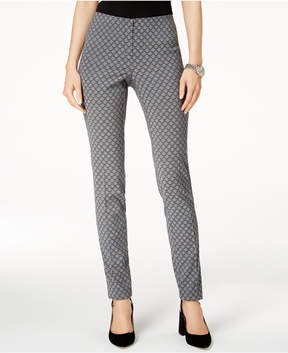 Alfani Hollywood Jacquard Skinny Pants, Created for Macy's