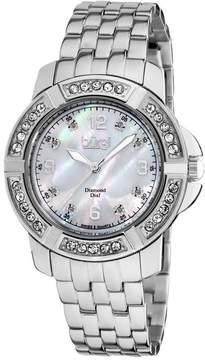 Burgi Silver-tone Stainless Steel Ladies Watch