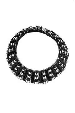 Forest of Chintz Black Aztec Collar