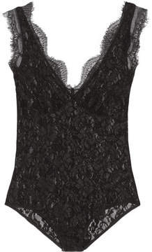 By Malene Birger Earlinna Layered Lace Bodysuit - Black