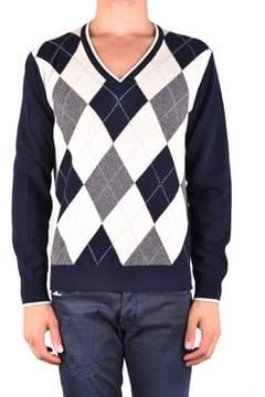 Ballantyne Men's Mcbi032077o Blue Wool Sweater.