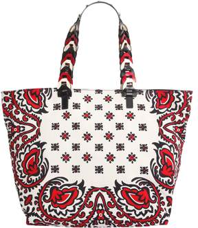 RED Valentino Printed Canvas Tote Bag