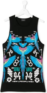 Marcelo Burlon County of Milan Kids macaw print vest top