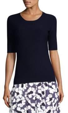 Peserico Ribbed Elbow Sleeve Sweater