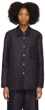 Mansur Gavriel Blue Silk Shirt