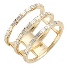 Ef Collection Women's Diamond Stack Ring