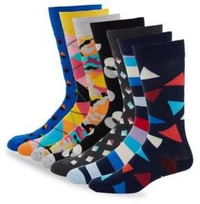 Happy Socks Striped Socks /Set of 7
