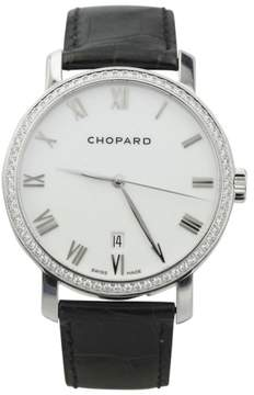 Chopard Classic 171278 18K White Gold Diamond Bezel 40mm Watch