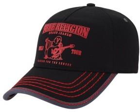 True Religion Men's Brand Jeans 'Puff Buddha' Ball Cap - Black