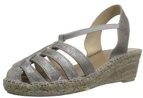 Andre Assous Womens Desi Suede Closed Toe Casual Espadrille Sandals.