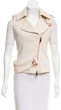 Bouchra Jarrar Zip-Trimmed Textured Vest