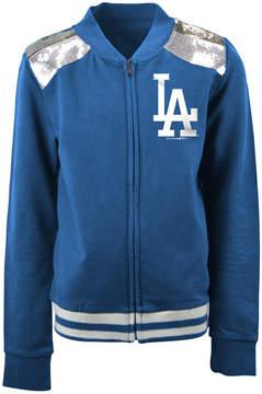 5th & Ocean Los Angeles Dodgers Sequin Zip Up Jacket, Girls (4-16)