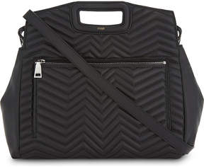 Maje M zigzag quilted leather tote