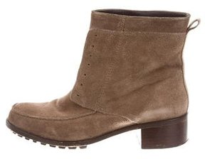 Elizabeth and James Suede Round-Toe Ankle Boots