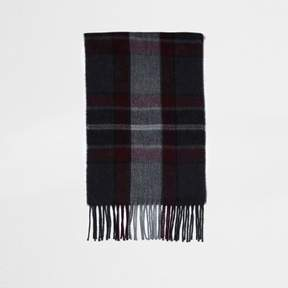 River Island Mens Red check scarf