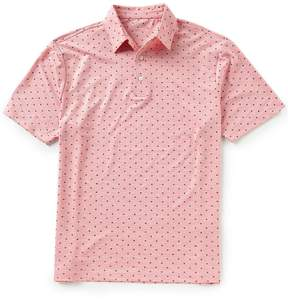 Roundtree & Yorke TravelSmart Short-Sleeve Print Heather Polo