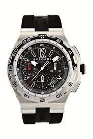 Bvlgari Diagono, 45mm, AUTO, bk d, TI, rbrAutomatic Black Men's Watch 101734