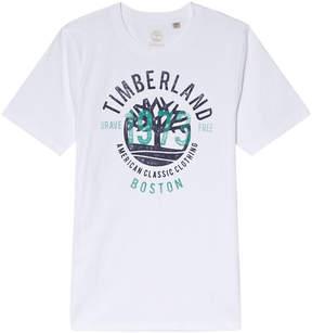 Timberland Kids White 1973 Tree Logo T-Shirt