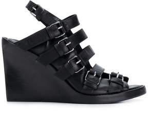 Ann Demeulemeester buckled wedge sandals