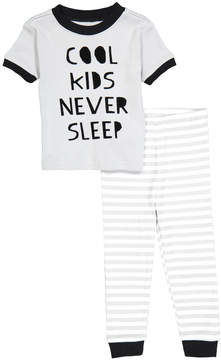 Petit Lem Gray 'Cool Kids' Crewneck Tee & Pants - Infant & Toddler