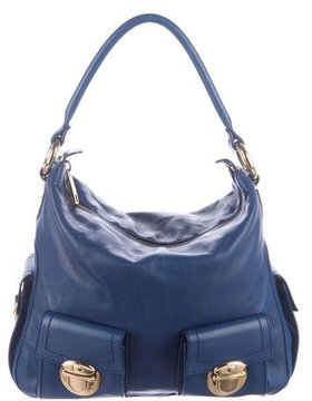 Marc Jacobs Leather Shoulder Bag - BLUE - STYLE