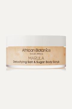 African Botanics - Marula Detoxifying Salt And Sugar Body Scrub, 200ml - Colorless