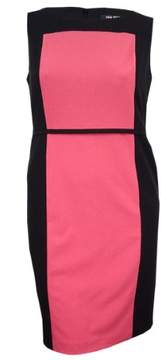 Nine West Women's Colorblocked Sleeveless Dress (14, Volcano/Black)