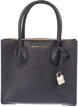 Michael Kors Mercer Grained Shoulder Bag - BLACK - STYLE