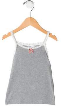 Petit Bateau Girls' Ruffle-Trimmed Top