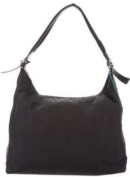Salvatore Ferragamo Leather-Trimmed Nylon Bag