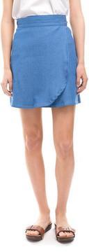 Clayton Jackie Denim Wrap Skirt