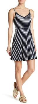 Angie Ruffle Striped Skater Dress