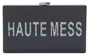 Nordstrom Haute Mess Box Clutch - Black