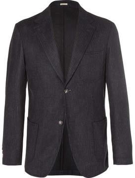 Massimo Alba Blue Benetti Slim-Fit Pinstriped Wool Blazer