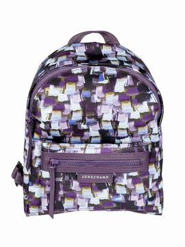 Longchamp Printed Backpack - DEEP PURPLE - STYLE