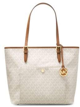 MICHAEL Michael Kors Top-Handle Zipper Tote - VANILLA - STYLE