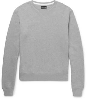 Calvin Klein Leather-Appliquéd Loopback Cotton-Jersey Sweatshirt